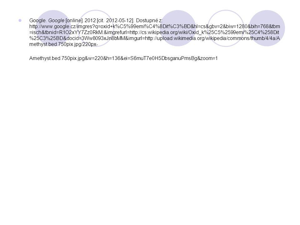 Google. Google [online]. 2012 [cit. 2012-05-12].